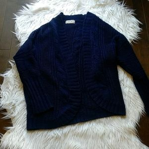 3/$20 Open front knit cardigan, size small